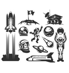 Set of icons space vector