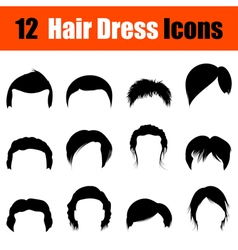 Set of mans hairstyles icons vector