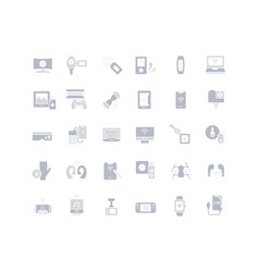 set simple icons modern gadgets vector image