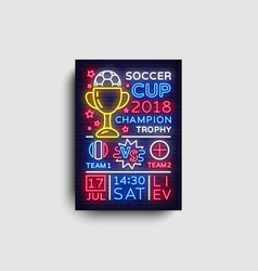 soccer tournament flyer european football vector image