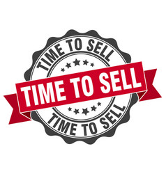time to sell stamp sign seal vector image vector image