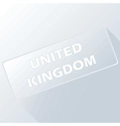 United Kingdom unique button vector image