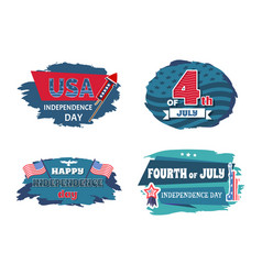 usa independence collection vector image