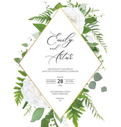 Wedding invite invitation save date card vector