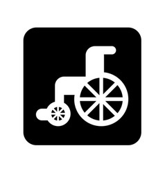 Wheelchair medical isolated icon vector