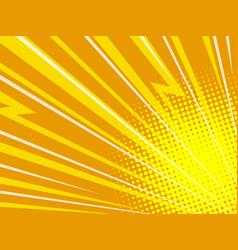 yellow zigzag rays pop art background vector image