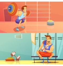 Gym Banners Set vector image vector image