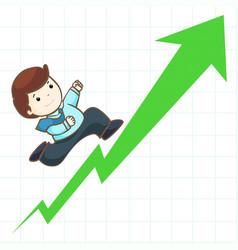 high profit stock graph vector image