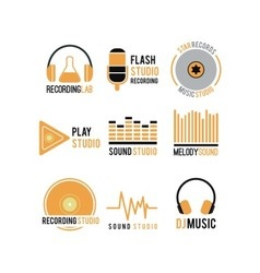Music logo vector