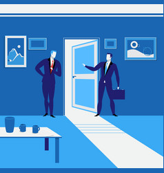 businessmen standing at vector image vector image