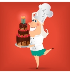 Cartoon Lady Chef vector image vector image
