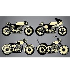 Old vintage motorcycles vector