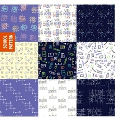 Set seamless pattern on the topic of education at vector image vector image
