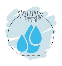 sticker scene of set drop water plumbing service vector image