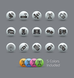 Wireless Comunications Icons Pearly Series vector image vector image