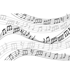 Abstract musical background with music vector image