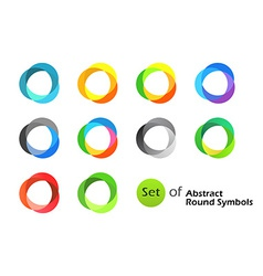 Abstract Round Symbols vector image