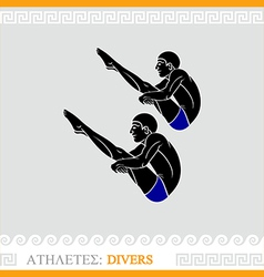 Athlete diving vector image vector image