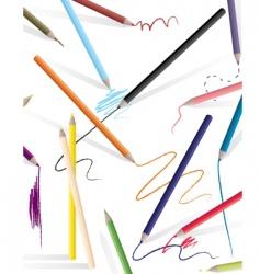 drawing pencils vector image vector image