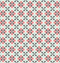 retro geometric seamless pattern in pink and grey vector image