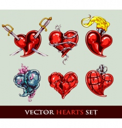 set of vector tattoo stylized vector image vector image