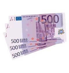 500 Euro bills vector image vector image