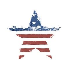 american flag star shape vector image vector image