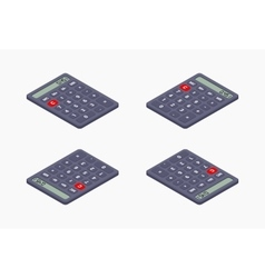 Black isometric calculator vector image