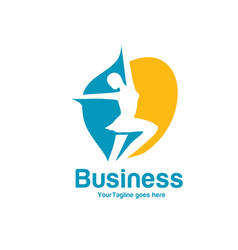 fitness and dance logo vector image