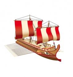 greece war ship vector image
