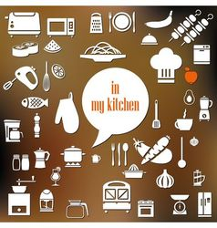 Kitchen poster vector