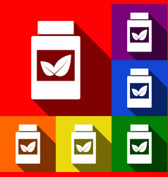 supplements container sign set of icons vector image