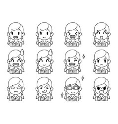001 hand drawn doodle collection cute funny vector