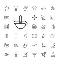 33 drawing icons vector