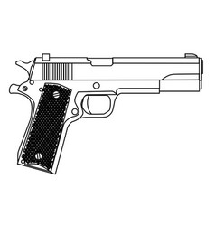 45 automatic hand gun vector
