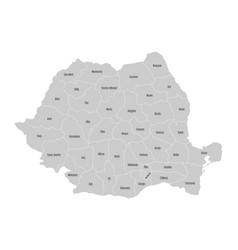 Administrative counties romania map vector