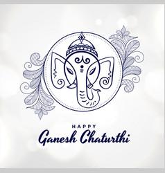 Artistic happy ganesh chaturthi festival card vector