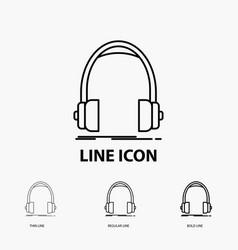 audio headphone headphones monitor studio icon in vector image