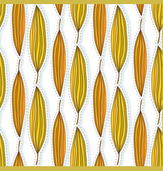 autumn leaves seamless pattern ethnic fabric vector image