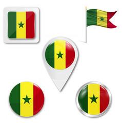 background senegal flag vector image