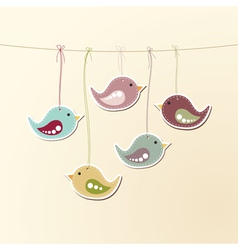 Birds on strings vector