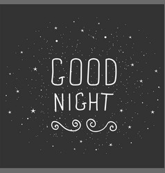 Black and white doodle typography poster with moon vector