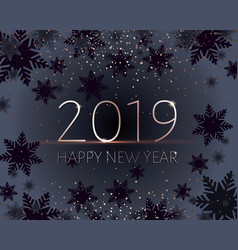 black new years banner gold 2019 inscription vector image