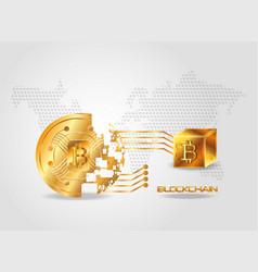 blockchain design concept vector image