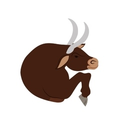 Bull cartoon icon Animal design graphic vector