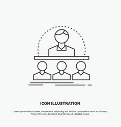Business coach course instructor mentor icon line vector