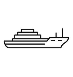 cargo ship icon outline style vector image