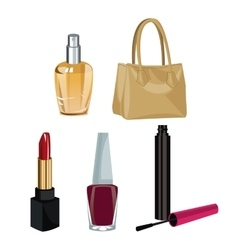 collection makeup accessories fashion wo vector image