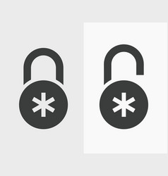 combination lock icon vector image
