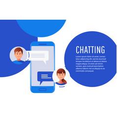 Communication chatting isometrics flat style vector